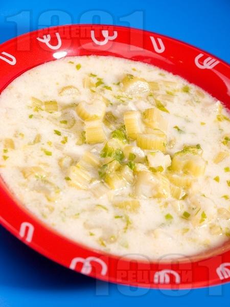 Супа от целина със сметана - снимка на рецептата